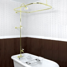 Kitchen Bath Industry Supply Bathtub And Shower Faucets - Clawfoot tub with shower surround